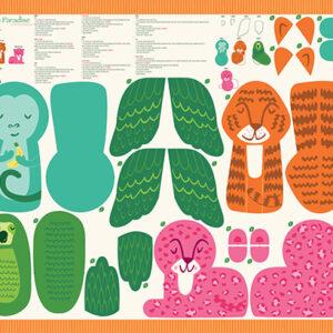 "Jungle Paradise 36"" X 44"" Stuffed Animal Panel By Stacy Iest Hsu For Moda - Multi"