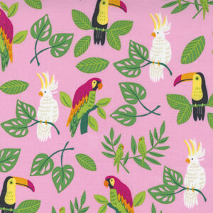 Jungle Paradise By Stacy Iest Hsu For Moda - Pink