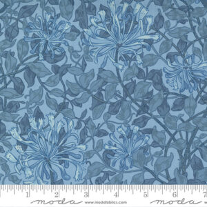 Best Of Morris By Barbara Brackman For Moda - Light Blue