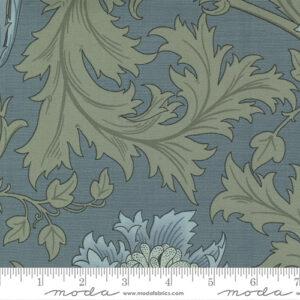 Best Of Morris By Barbara Brackman For Moda - Light Blue - Black