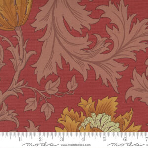 Best Of Morris By Barbara Brackman For Moda - Deep Red