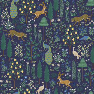 Camont By Rifle Paper Co. For Cotton + Steel - Metallic - Navy