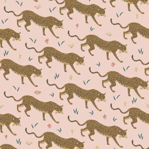 Camont By Rifle Paper Co. For Cotton + Steel - Metallic - Blush