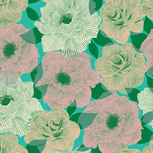 Camellia By Melody Miller Of Ruby Star Society For Moda - Tropic
