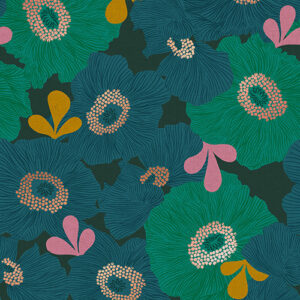 Camellia By Melody Miller Of Ruby Star Society For Moda - Canvas - Peacock