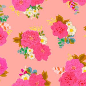 "Camellia 108"" Quiltback By Ruby Star Society For Moda - Balmy"