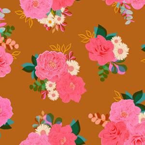 "Camellia  108"" Quiltback By Ruby Star Society For Moda - Caramel"