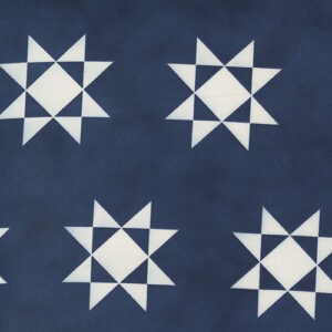 """Starlight Gatherings 108"""" Quiltback By Primitive Gatherings For Moda - Royal"""