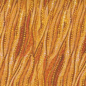 Sunflower Dreamscapes Digital By Ira Kennedy For Moda - Orange