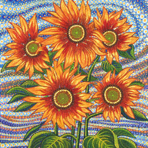 """Sunflower Dreamscapes 36"""" X 45"""" Panel Digital By Ira Kennedy For Moda - Sunflowre"""