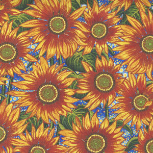 Sunflower Dreamscapes Digital By Ira Kennedy For Moda - Sunflower