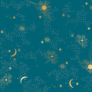 """Cosmos 108"""" Quiltback By Ruby Star Society For Moda - Teal"""