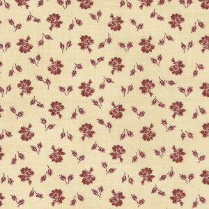 Mary Ann\'s Gift 1850-1880 By Betsy Chutchian For Moda - Biscuit - Red