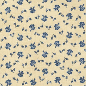 Mary Ann\'s Gift 1850-1880 By Betsy Chutchian For Moda - Biscuit - Indigo