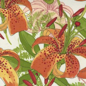 Carolina Lilies By Robin Pickens For Moda - Cream