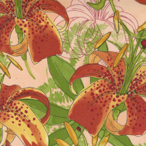 Carolina Lilies By Robin Pickens For Moda - Peach