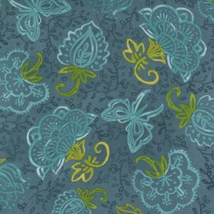 Carolina Lilies By Robin Pickens For Moda - Teal