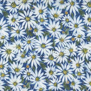Fresh As A Daisy Digital By Create Joy Project For Moda - Cobalt