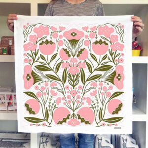 Flowers Tea Towel By Gingiber For Moda - Minimum Of 2