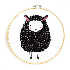 Black Sheep Embroidery Sampler By Gingiber For Moda - Minimum Of 3