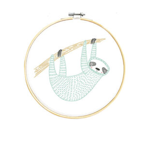 Embroidery Sampler Sloth By Moda - Minimum Of 3