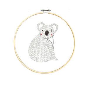 Embroidery Sampler Koala By Moda - Minimum Of 3