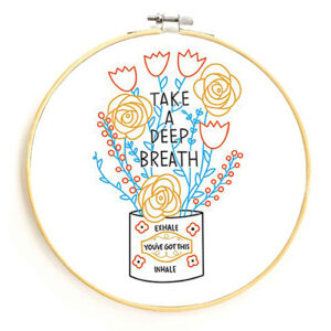 Take A Deep Breath Embroidery Kit By Gingiber For Moda - Minimum Of 2