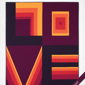 Colorblock Love Pattern By Hunters Design Studio For Moda - Minimum Of 3