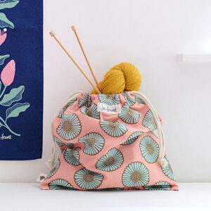 African Daisy Knitting Bag By Ruby Star Society For Moda - Multiple Of 6