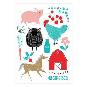 Farm Charm Sticker Sheet By Gingiber For Moda - Minimum Of 3