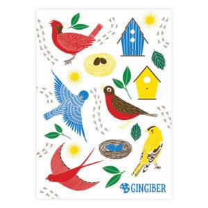 Birdie Sticker Sheet By Gingiber For Moda - Minimum Of 3