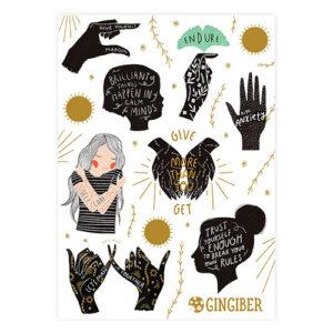 Encouragement Sticker Sheet By Gingiber For Moda - Minimum Of 3