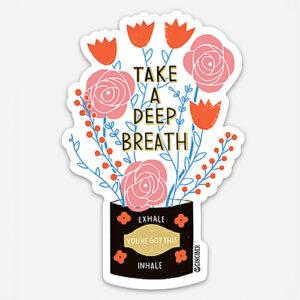 Deep Breath Sticker Sheet By Gingiber For Moda - Minimum Of 6
