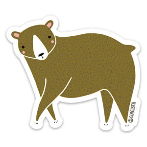 Nocturnal Bear Sticker By Gingiber For Moda - Minimum Of 6