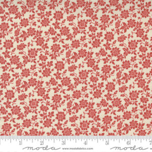Bonheur De Jour By French General For Moda - Pearl - Faded Red