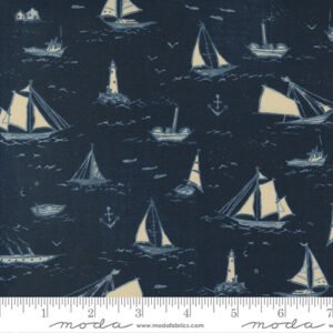 To The Sea By Janet Clare For Moda - Dark Ocean