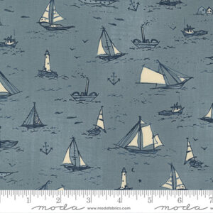To The Sea By Janet Clare For Moda - Sky