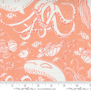 The Sea And Me By Stacy Iest Hsu For Moda - Coral
