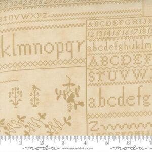 "Threads That Bind 32"" X 44"" Panel By Blackbird Designs For Moda - Parchment"