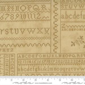 "Threads That Bind 32"" X 44"" Panel By Blackbird Designs For Moda - Tan"