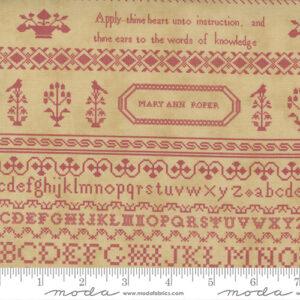 "Threads That Bind 32"" X 44"" Panel By Blackbird Designs For Moda - Tan - Rose"