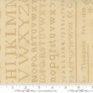 "Threads That Bind 24"" X 44"" Panel By Blackbird Designs For Moda - Parchment"