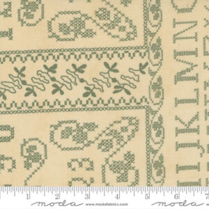 """Threads That Bind 24"""" X 44"""" Panel By Blackbird Designs For Moda - Parchemnt - Fern"""