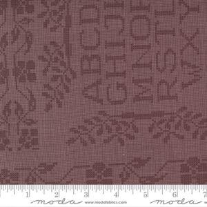 """Threads That Bind 24"""" X 44"""" Panel By Blackbird Designs For Moda - Rhubarb"""