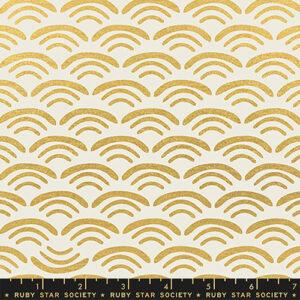 Koi Pond By Rashida Coleman-Hale Of Ruby Star Society For Moda - Canvas Metallic - Gold