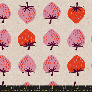 Strawberries And Friends By Kimberly Kight Of Ruby Star Society For Moda - Canvas - Natural