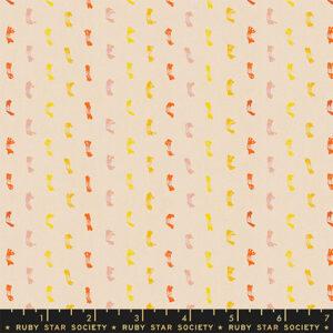 Warp Weft Honey Wovens By Alexia Abegg Of Ruby Star Society For Moda - Cantaloupe