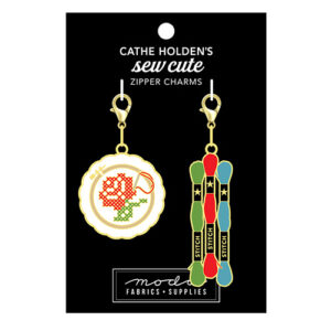 Cross Stitch Zipper Pulls 2ct By Cathe Holden For Moda - Multiple Of 3