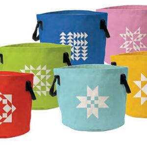 "Maker Bucket Rainbow  12"" X 11"" By Moda - Multi - Multiple Of 6"