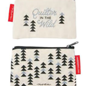 """Quilt Wild Zip Pouch 5"""" X 3.25"""" By Moda - Natural - Multiple Of 12"""